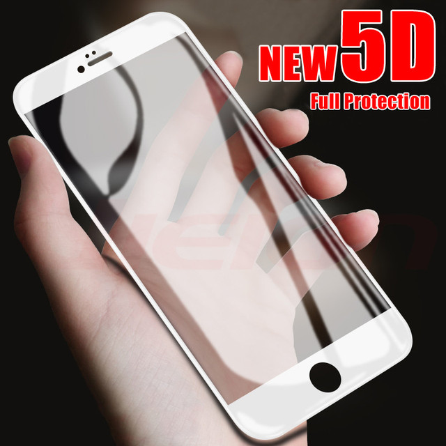 5D Tempered Glass on the For iPhone X 7 8 6 Plus Screen Protector Full Cover Protective Glass For iPhone 6 6s 7 XR XS 5 Max film