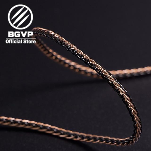BGVP 5N 160 Core Earphones Hybrid Cable 2.5mm 3.5mm 4.4mm DIY Aficionados MMCX Interchangeable Hifi Headphone Upgrade Cable DM6 4