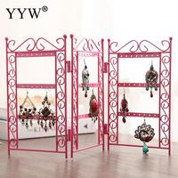 Earrings Necklace Ear Studs Organizers Jewelry Stand Holder Display Rack Metal Stand Holder Display Shelf Jewelry Stand Holder