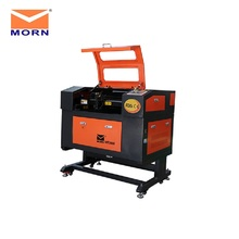 50W MORN high quality mini laser cutting engraving machine with aluminum table electrical lift