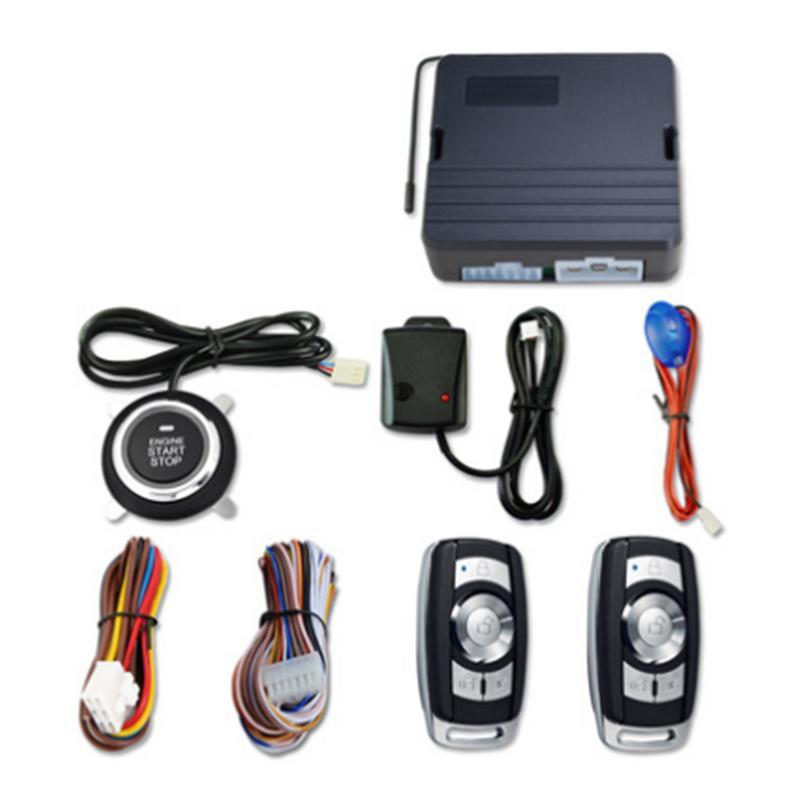 12 V universel voiture un bouton système de démarrage clé intelligente Vibration voiture cambrioleur alarme à distance moteur démarrage voiture alarme