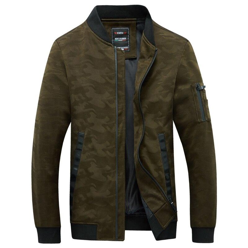 Camouflage veste hommes 2019 automne marque vêtements col montant Zipper Up léger coupe-vent vestes pour homme