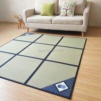 Japanese Traditional Natural Rushes Tatami Carpet Tatami Mat Floor Sheet Lightweight For Living Room Bedroom Mattress Floor Mat