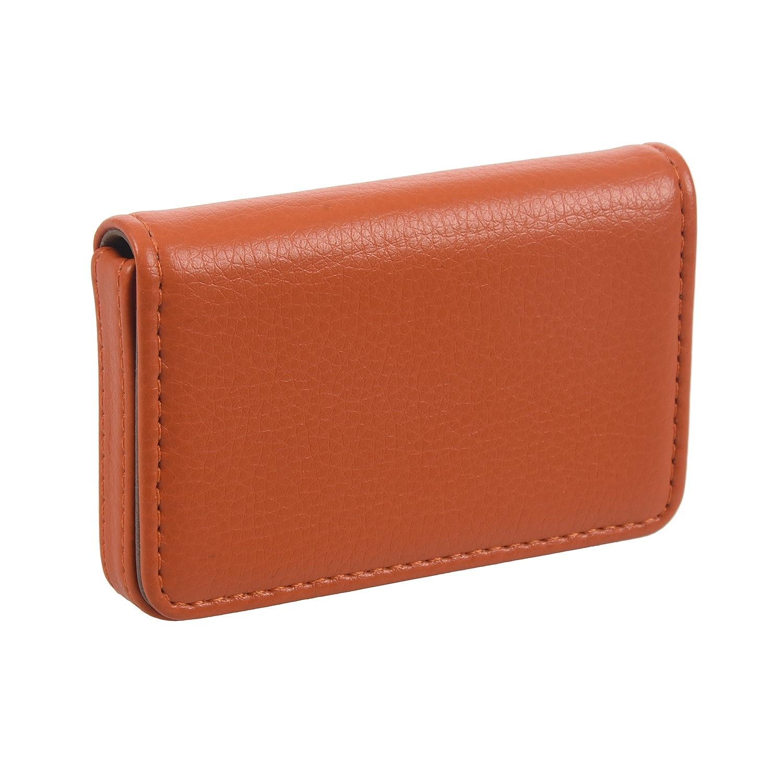 Waterproof Business ID Credit Card Holder Aluminum Pocket Wallet Case Box, Orange