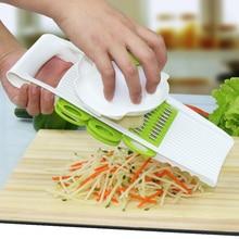 Multi Aardappel Snijmachine Groenten Cutter Met 5 Rvs Blade Wortel Rasp Ui Slicer Keuken Accessoires Tool