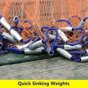 Image 5 - Nâng Cấp Đĩa Bay Mỹ Gang Tay Lưới Bắt Cá Với Chì Phao Chìm Ném Lưới Đánh Cá Đường Kính 300 360 420 480 540 600 720Cm