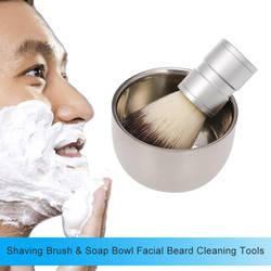Мужская щетка для бритья с мыльной чашей, кружка для крема, Парикмахерская, для мужчин, удаление бороды для лица, набор инструментов