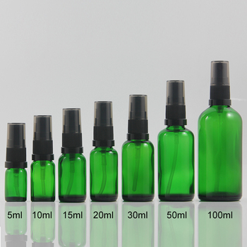 100pcs 100ml high-grade green mist spray pump bottles, 100cc wholesale perfume bottles refillable bottles