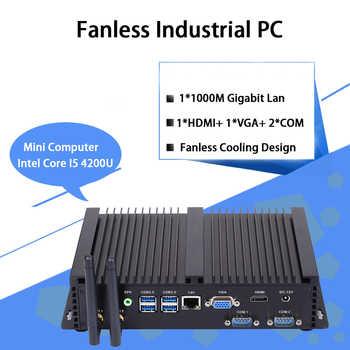 Fanless Industrial PC,Mini Computer,Windows 10,Intel Core I5 4200U,[HUNSN MA04I],(Dual WiFi/VGA/HD/3USB2.0/4USB3.0/LAN/2COM) - DISCOUNT ITEM  26 OFF Computer & Office