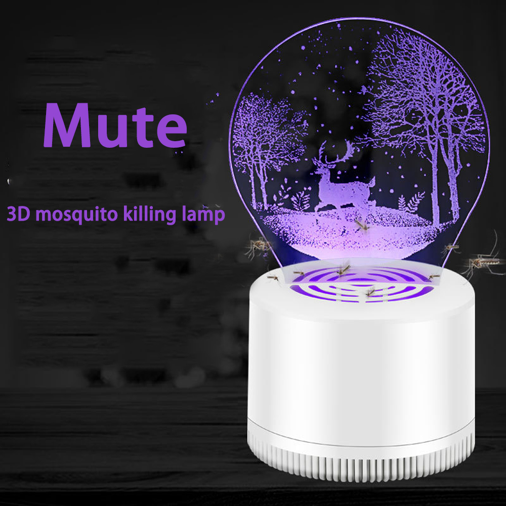 Temperate Creative 3d Usb Mosquito Killer Lamp Led Home Mosquito Killer Pregnant Woman Baby Without Radiation Mosquito Repellent Lamp Great Varieties