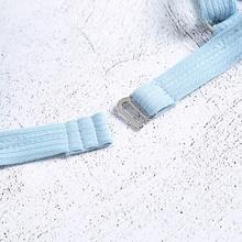 High Waist Padded Bikini Light Blue Women Swimsuit