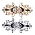 Fityle 1 пара застежек для рукоделия, застежка-пуговица, цветок, кристалл, металлический крючок, застежка для глаз, аксессуары для шитья