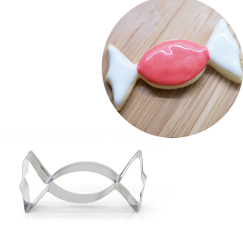 Candy Shaped Stainless Steel Cookie Cutter Biscuit Mould Pastry Cake Mold Fondant Cake Decorating Tool Biscuit Baking Mold