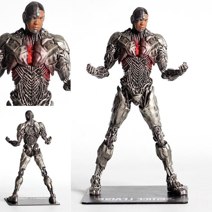 New Justice League Cyborg Figure <font><b>Artfx</b></font> + Statue <font><b>1/10</b></font> <font><b>Scale</b></font> Pre-painted Collectible Model Toy Banpresto Marvel Figurine image