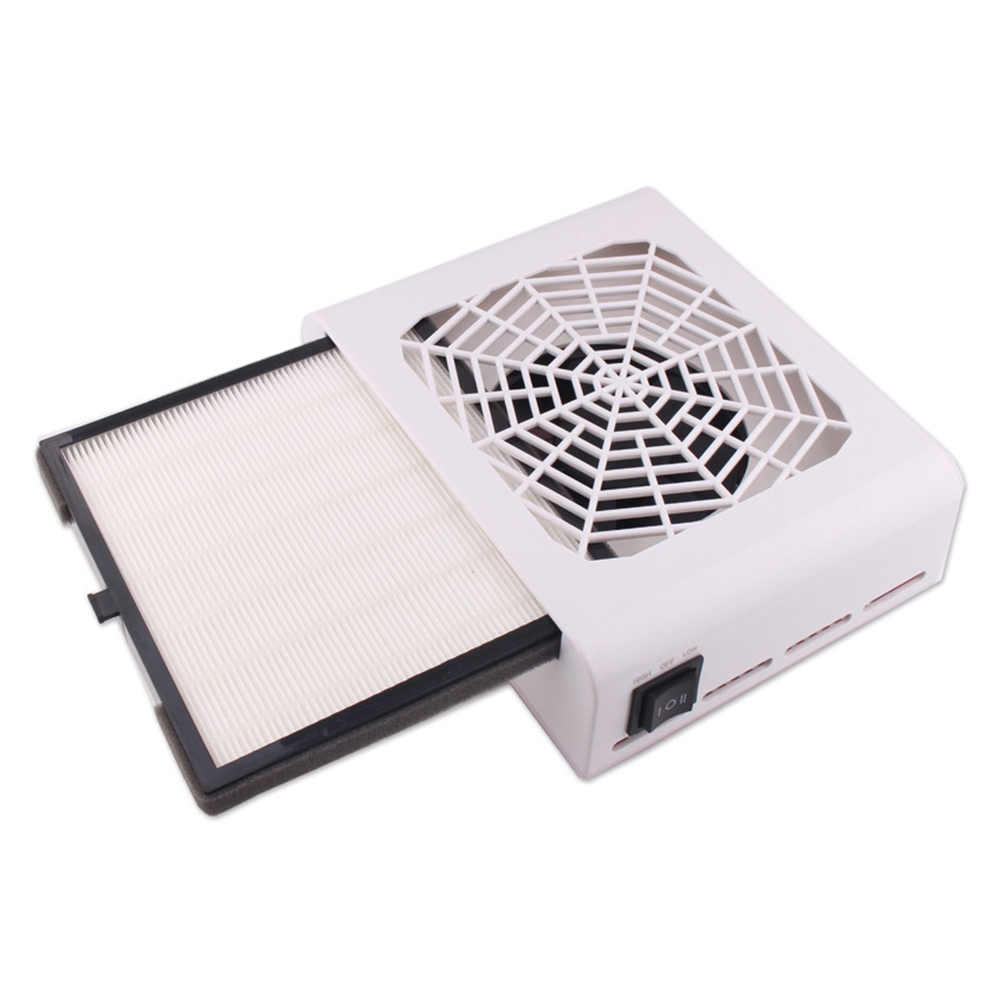 48W Nail Suction Dust Extractor Collector Dust Filter Fan UV Acrylic Tip Dust Gel Vacuum Cleaner