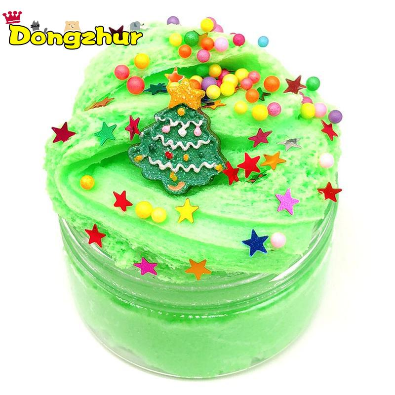 Christmas Slime.Us 1 95 28 Off Red Green Cloud Christmas Slime Clay Anti Stress Kids Toy Cotton Mud Magic Crystal Sand Fluffy Slime Clay Toy Plasticine Diy7651 In