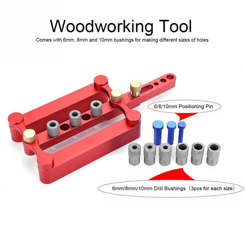 Nouvelle maison bois bricolage 6/8/10mm artisanat auto centrage cheville gabarit trou de perçage scie charpentier Guide bricolage outil de travail du bois