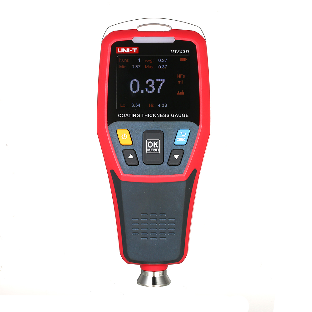 UT343D Thickness Gauge Car Paint Coating Thickness Gauge With USB Data Function Thickness Gauges For Auto Refinishing MeterUT343D Thickness Gauge Car Paint Coating Thickness Gauge With USB Data Function Thickness Gauges For Auto Refinishing Meter