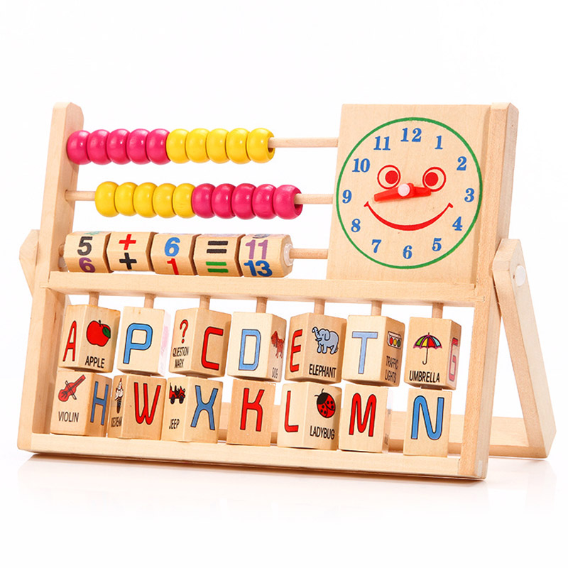 Children Baby Learning Developmental Versatile Flap Abacus Kids Wooden Toys YJS Dropship in Math Toys from Toys Hobbies
