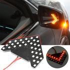 1pcs 33 SMD LED Arrow Panels Car Side Mirror Turn Signal Indicator Lights Sequential Yellow