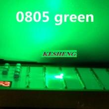 Ultra Bright LED SMD 0805 Verde novo lighte 560-575NM 70-200MCD I (mA): 20ma 2.0*1.2*0.8MM 2000PCS