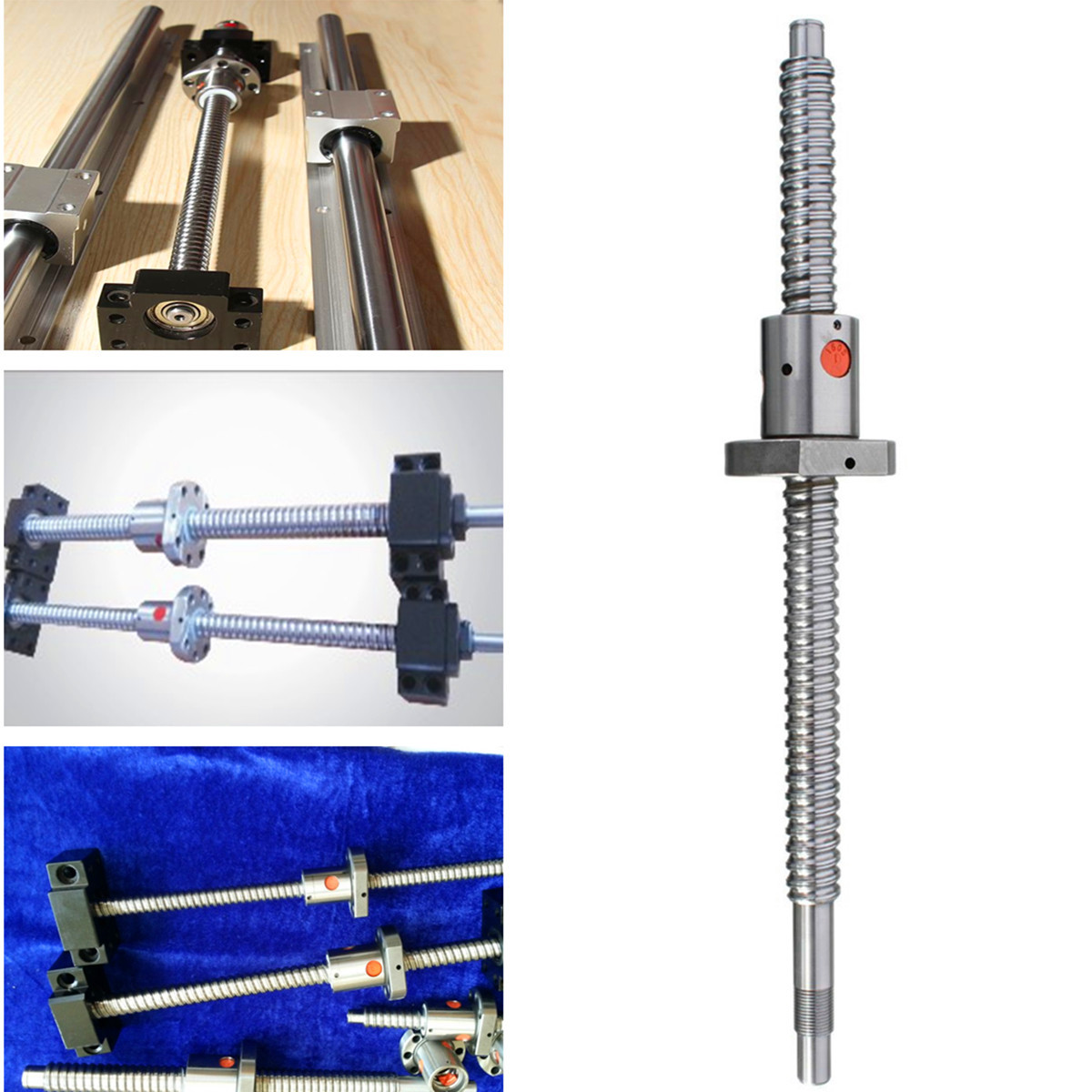 Ball Screw Rolled C7-1605 ballscrew 300mm Bearing Process Ball Reduce Friction with one flange single ball nut for CNC partsBall Screw Rolled C7-1605 ballscrew 300mm Bearing Process Ball Reduce Friction with one flange single ball nut for CNC parts