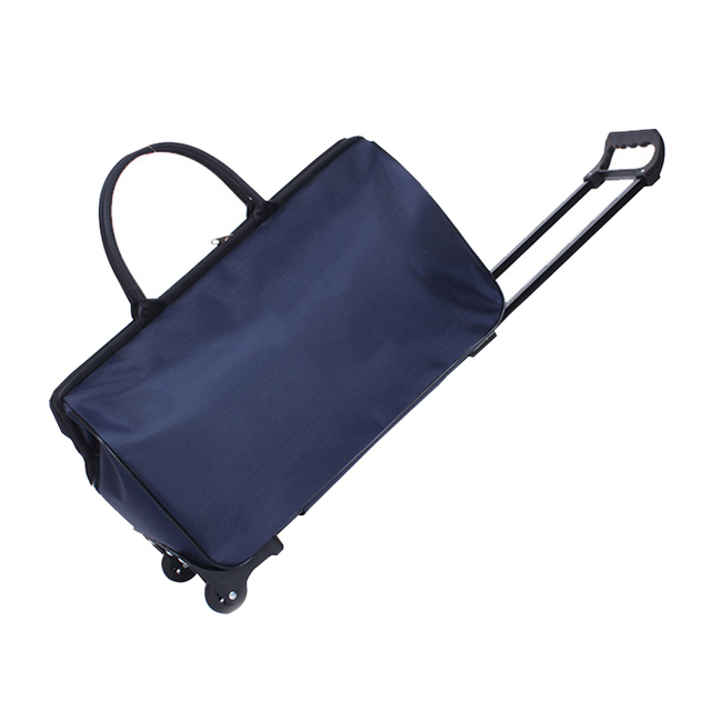 05f3865000ae US $26.25 35% OFF|Oxford Luggage Cart Suitcases On Wheels Portable Trolley  Rolling Duffel Bag Hand Baggage Packing Organizer Travel Accessories-in ...