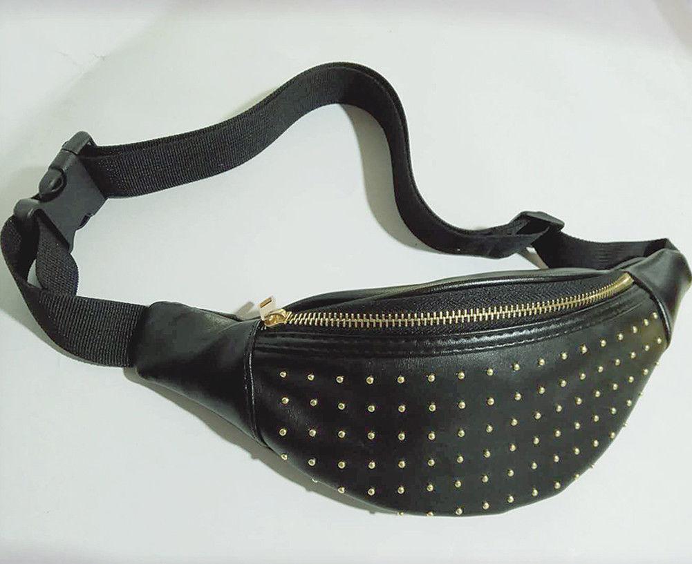 Unisex Holographic Shoulder Crossbody Bag with Adjustable Shoulder Strap PU Waist Bag Casual Zipper Chest Bag