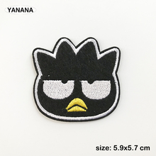 black Bird cartoon animal Lovely birdie Iron on Embroidered Cloth Patch For Girls Boys Clothes Stickers