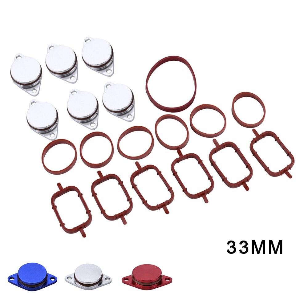 Kit de rechange de réparation de joints de collecteur d'admission de flans de tourbillon Diesel de 6X33 MM pour le style de voiture de BMW