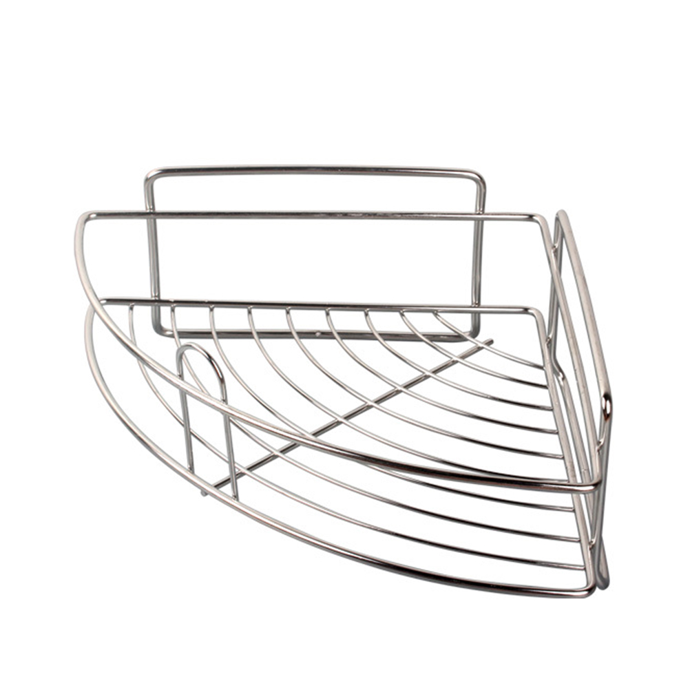 Stainless Steel Self Adhesive Corner Shelf Strong Suction