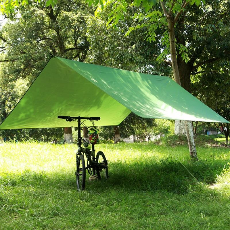 Image 5 - Silver Coating Waterproof Hammock Awning Canopy Tent Tarp Beach Camping Portable Pergola Sunshade OutdoorHammocks   -