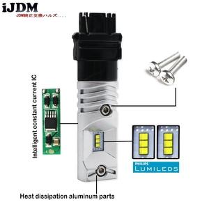 Image 3 - 6000K biały 6 SMD zasilany przez Luxen LED 3157 3357 3457 4114 LED żarówki dla 2011 up Jeep kompas dla światła dzienne 12V