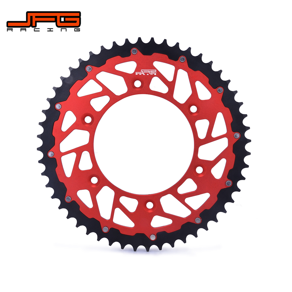 Motorcycle 44-52T Chain Sprocket For HONDA CR125R CR250R CR500R CRF150F CRF230F CRF230L CRF230M CRF XR250R XR400R XR600R XR650R h2cnc motorcycle fuel petcock valve for honda xr600r xr250r xr400r xr 250r 400r 600r