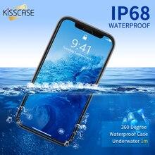 KISSCASE غطاء هاتف مضاد للماء ل فون 6 6 S 7 8 زائد SE 5 المياه واقية السباحة الغوص كوكه غطاء ل فون X XR XS ماكس حالة