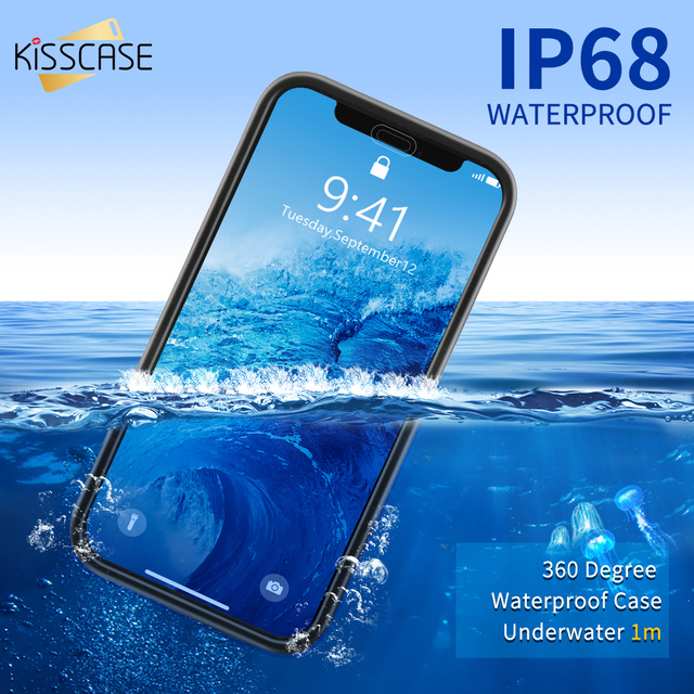 KISSCASE Waterproof Phone Case For iPhone 6 6S 7 8 Plus SE 5 Water Proof Swimming Diving Coque Cover For iPhone X XR XS Max Case