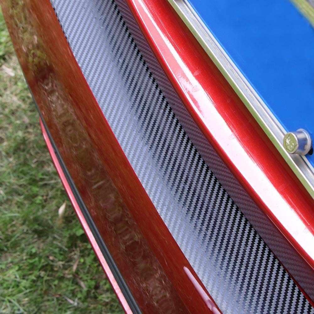 Autocollant de pare-chocs arrière en Fiber de carbone Onever 108x7 cm protecteur de garniture pour VW Golf MK6 GTI R20 autocollants de voiture