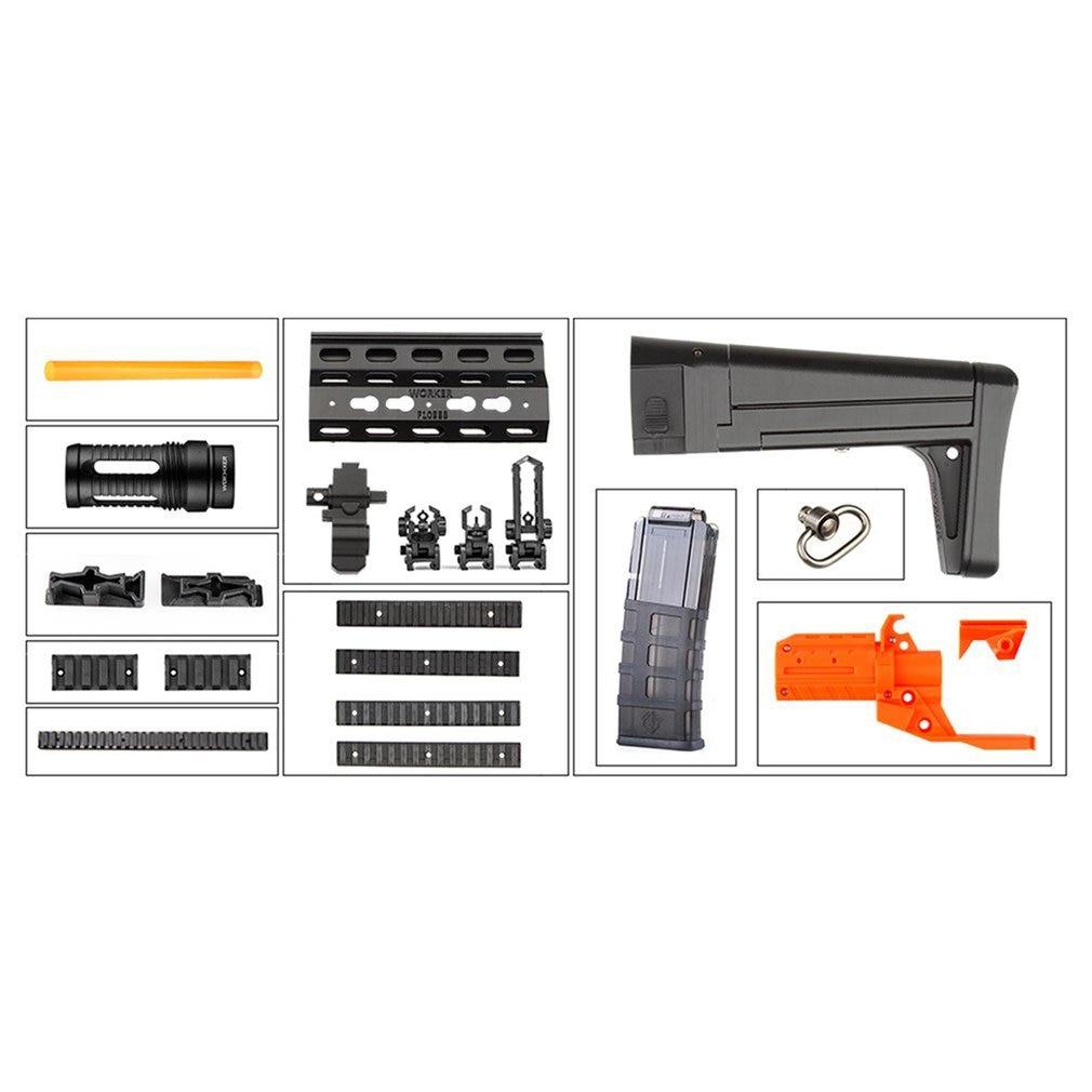 Worker STF-W011 XCR-L Mini Mod Kits Set With Orange Adaptor for Nerf N-Strike Elite Stryfe BlasterWorker STF-W011 XCR-L Mini Mod Kits Set With Orange Adaptor for Nerf N-Strike Elite Stryfe Blaster