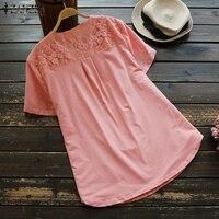 Cotton Linen Shirt Plus Size
