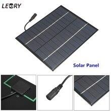 LEORY 5,2 Вт 12 В мини панели солнечные поликристаллического кремния эпоксидный Солнечный DIY модуль системы Солнечный аккумуляторная батарея зарядное устройство + DC Выход