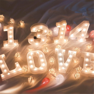 Image 3 - 16CM LED Letter Night Light Light Alphabet Battery Home Culb Wall Decoration Party Wedding Birthday Decor Valentines Day Gift