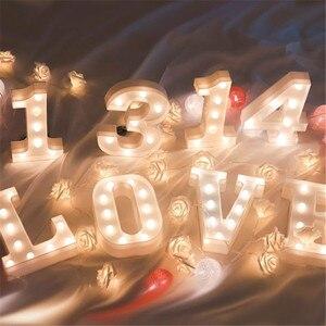 Image 3 - Veilleuse veilleuse avec lettres LED CM, décoration murale, batterie, décoration murale pour maison, fête, anniversaire, mariage, cadeau de saint valentin