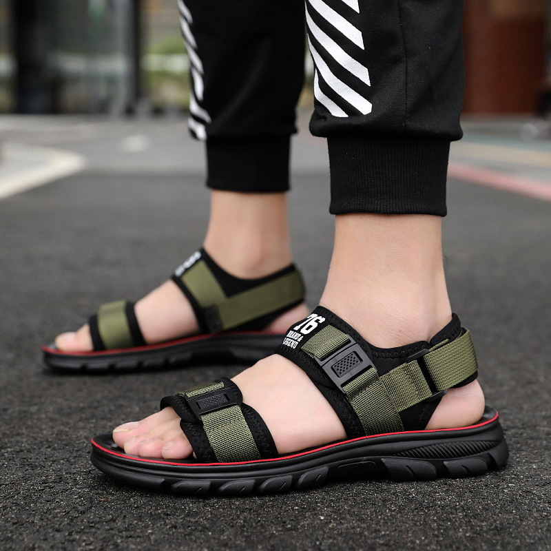 Men Sandals Chaussure Flip-Flops Black Gladiator Fashion Summer Flat Homme