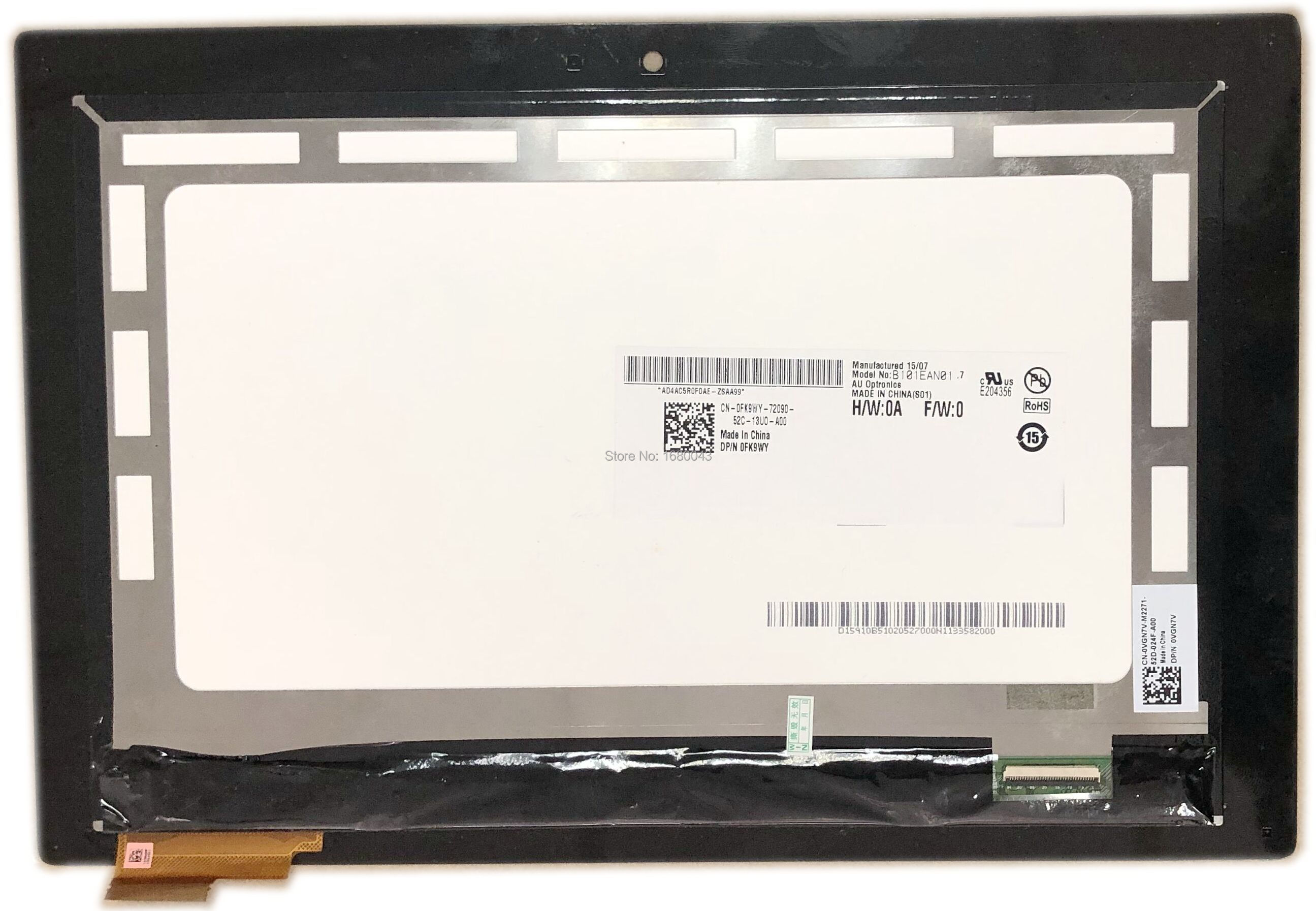 B101EAN01.7 LCD LED Touch Screen Glass Digitizer Assembly For <font><b>10</b></font>.1