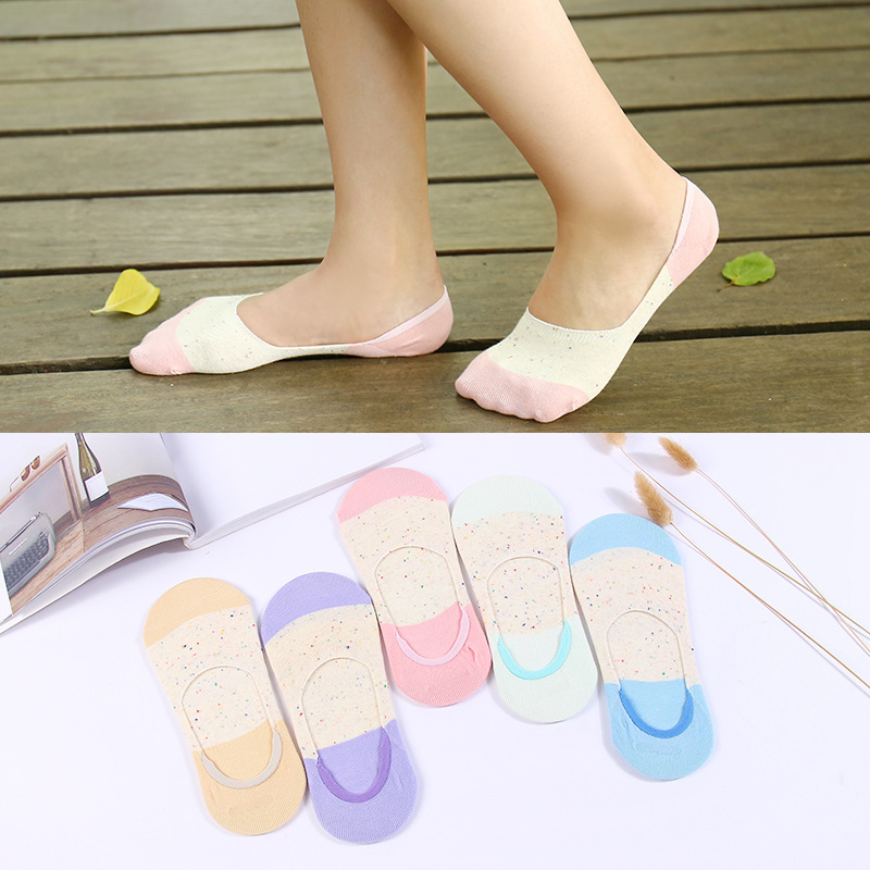 Colorful Fruit Invisible Short Woman Sweat Summer Comfortable Cotton Girl Women's Boat Socks Ankle Low Female 1pair=2pcs X76