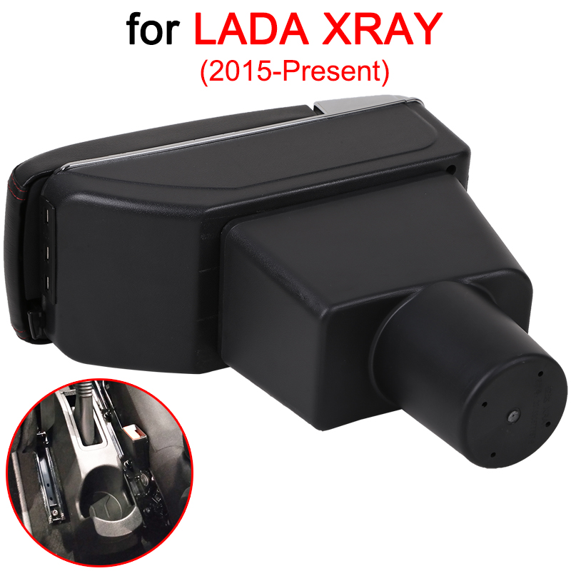 Image 3 - For LADA XRAY Armrest Box LADA XRAY Universal Car Central Armrest Storage Box cup holder ashtray modification accessories-in Armrests from Automobiles & Motorcycles