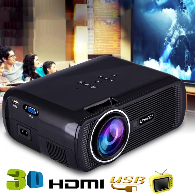 Mini Wifi <font><b>7000</b></font> <font><b>Lumens</b></font> 1080 P 3D HD Proyektor LED Portabel Theater Home Cinema image