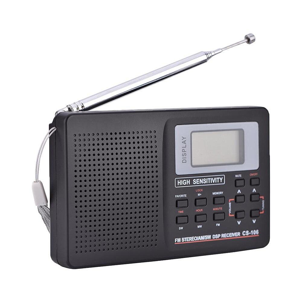 Suche Nach FlüGen Mini Fm Radio Tragbare Radio Empfänger Unterstützung Fm/am/sw/lw/tv Ton Volle Frequenz Radio Empfänger Unterstützung Alarm Uhr Für Ältere Radio Tragbares Audio & Video