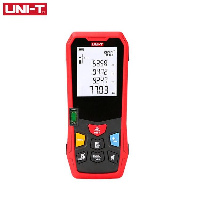 UNI T דיגיטלי לייזר מרחק מטר 80M 100M 120M 150M מד טווח בניין אלקטרוני קלטת למדוד Medidor Trena לייזר שליט