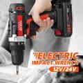 Новинка 12В/24В аккумуляторная батарея Аккумуляторный Электрический ударный торцевой гаечный ключ автомобильный домашний двойной скоростн...